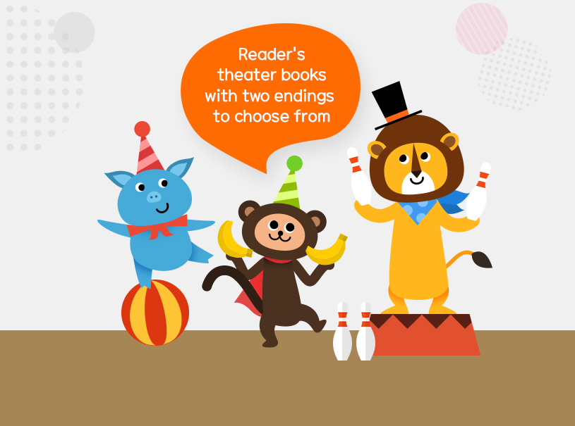 Reader's theater books with two endings to choose from