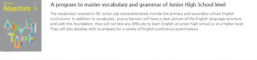 A program to master vocabulary and grammar of Junior High School level